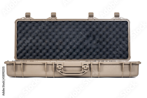 Machine gun box Soft Secure Storage Case isolated
