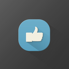 """THUMBS UP"" Icon (vote like social network share button)"
