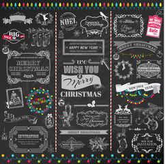 Vector Set: Christmas Calligraphic Design Elements