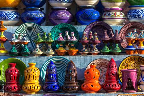 Fotobehang Afrika Moroccan traditional ceramics