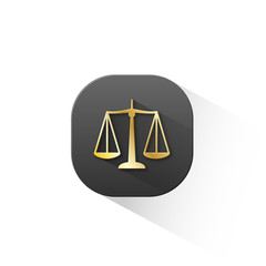 """""""SCALES OF JUSTICE"""" Icon (rights legal advice law button)"""