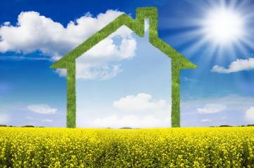 Haus aus Gras