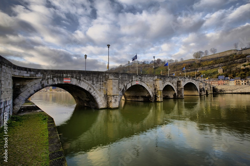 500-year old bridge between Namur and Jambes, Walloon region, Be