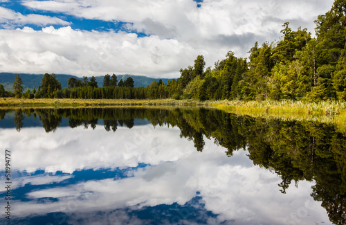 Lake Matheson near Fox Glacier South Island New Zealand