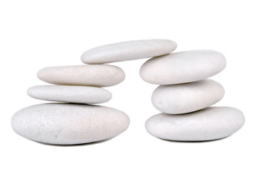 stone pebble isolated on white
