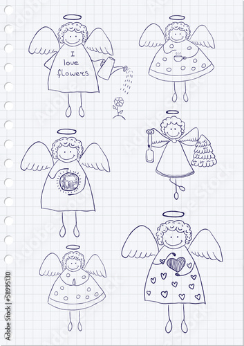 Angels Doodles