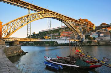 Bridge of Dom Luis on sunset