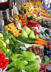 .Fresh vegetables market