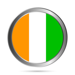 Cote d'Ivoire flag button