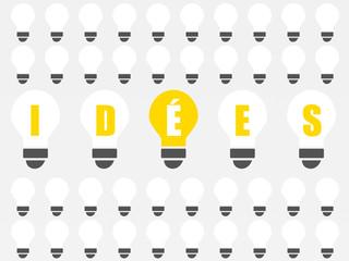 mot idées - fond ampoules