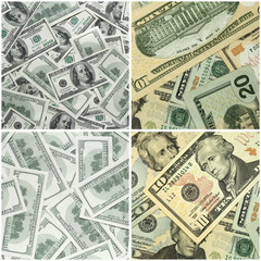collection of dollars background