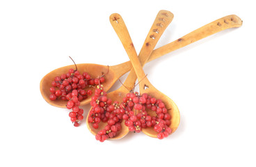 wooden spoons and berry