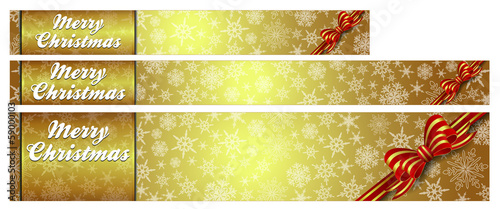 Snowflakes Christmas Gold Web Banners easy to modify
