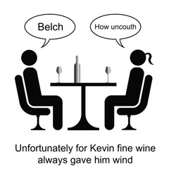 Kevin could not handle his wine