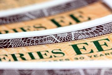 United States Treasury Savings Bonds Financial Security concept