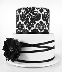 Black and White Double Layer Cake