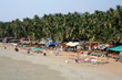 Elevated view idyllic Goa beach
