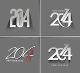 Fototapety Happy New Year 2014 Text Design (set 2)