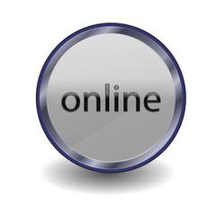 online Button Grau