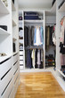 Modern walk in wardrobe vertical