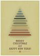 Retro Merry Christmas with Christmas Tree on a Vintage backgroun