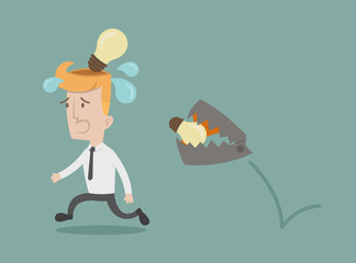 Business man lose idea