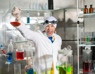 Chemist in the laboratory