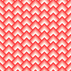 Pink and white chevron geometric seamless pattern, vector