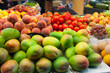 Mangoes  in the  market