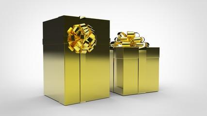 Boîtes Cadeaux Or - Ruban Or