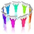 Team - Besprechung, Informationsweitergabe