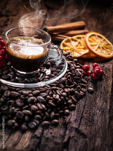 Fotobehang Cafe hot coffee