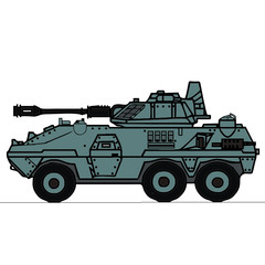vector drawing of a tank