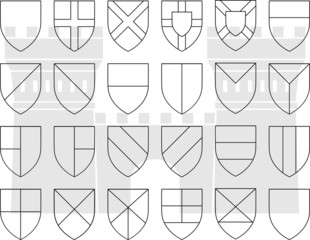 stencils of division of the shield