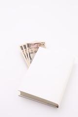 本に挟んだお金