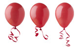 Red Balloons with Ribbons