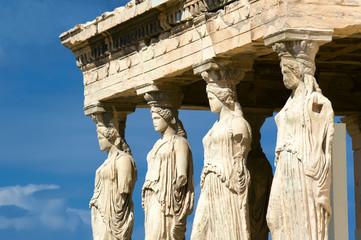 Caryatid sculptures, Acropolis of Athens, Greece