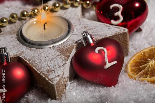 2 advent weihnachten kerzen