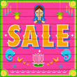 Sale Background in Indian Truck paint style
