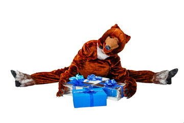 Bear and gifts