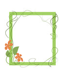 Floral frame  . Vector illustration.