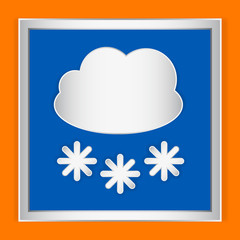 Weather icon cloudy and snow