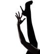 woman legs silhouette