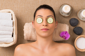 Facial Skin Care With Cucumber