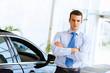 Businessman near car