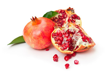 Two pomegranates isolated