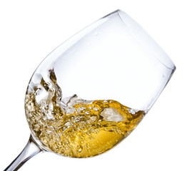 White wine, saved clipping path