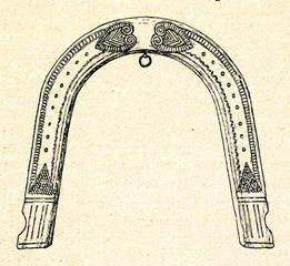 Hames for horse harness (russian harness)