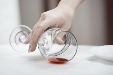 Fallen wineglass