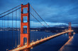 Golden Gate Bridge, blue hour